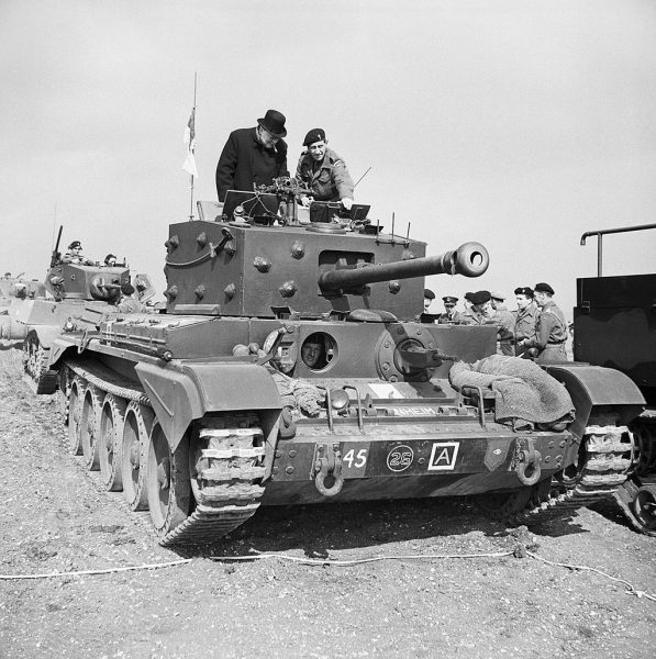 Winston Churchill during the Second World War Winston Churchill inspects a Cromwell Mk IV tank .
