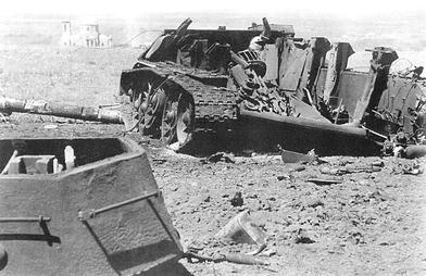 Exploded T-34, revealing the large suspension columns holding the vertical springs of its Christie suspension. Credit: Michulec, R., Zientarzewski,