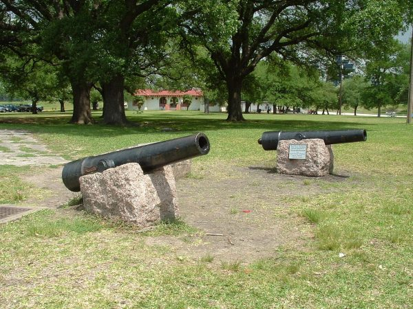 """Replica of """"Twin Sisters"""" smoothbores used in the Battle of San Jacinto"""
