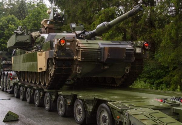 The U.S. Army Europe officials said that Abrams was equipped with visual modifications to simulate having the Trophy active protection system take part in Saber Guardian 19.