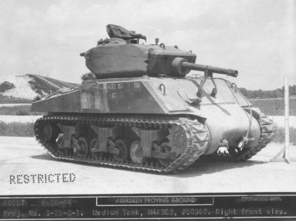 An M4A3E2 Sherman at Aberdeen Proving Grounds, 1944.
