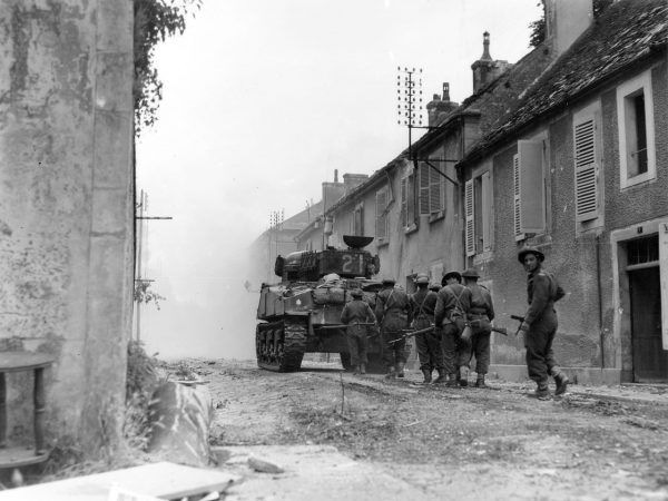 The Sherman was ideal at supporting infantry.