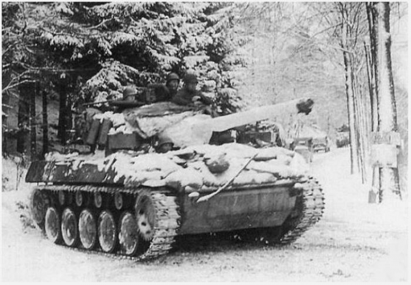 2nd Armored Division M18 during Battle of the Bulge, January 1945