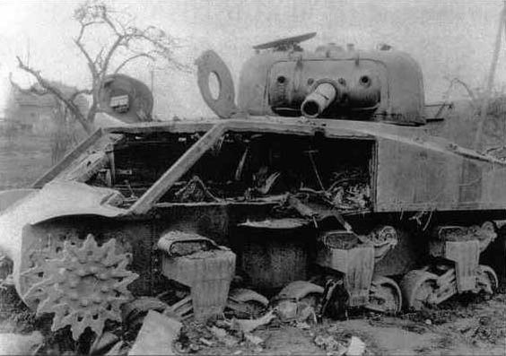 M4 (105) cannibalized for armor plate from side and glacis