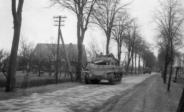 2nd Armored Division M36 in Lipperode, Germany 2 April 1945