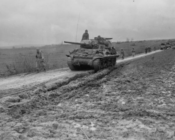 2nd French Armored Division M10, Halloville, France 13 November 1944