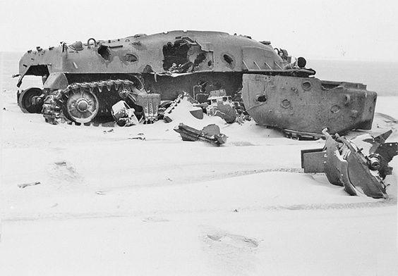 Dutch seaside gunnery range target tank