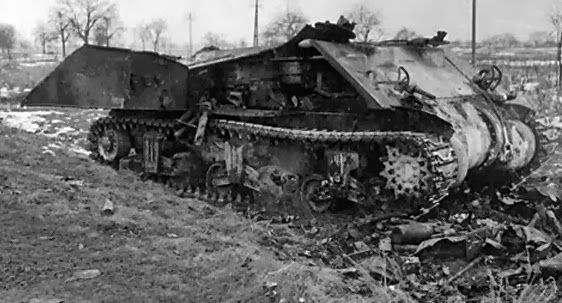 Totally wrecked M4A4. Burned out and not salvageable