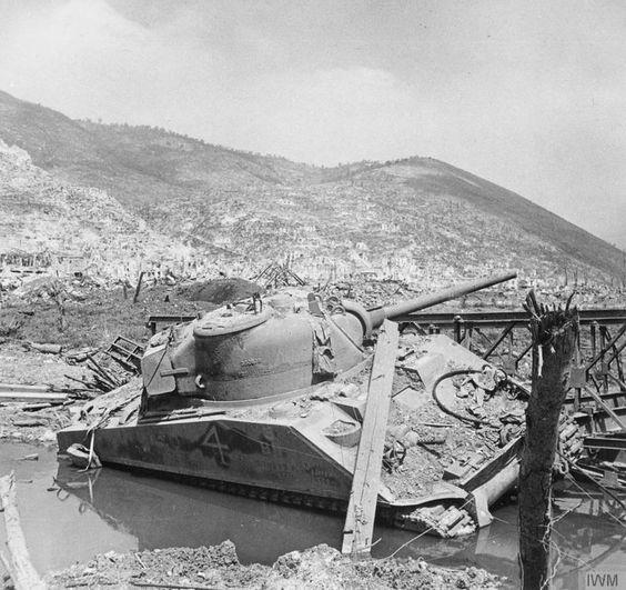 Sunk Sherman in Italy