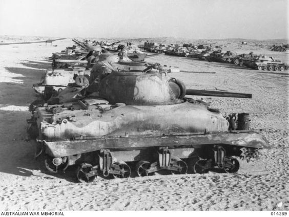 Sherman II (M4A1) in Tank park in North Africa