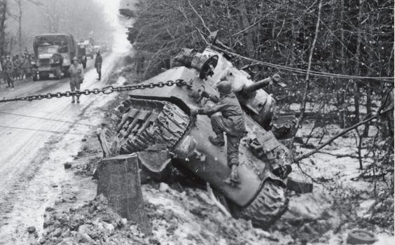 M4A3 Sherman being recovered