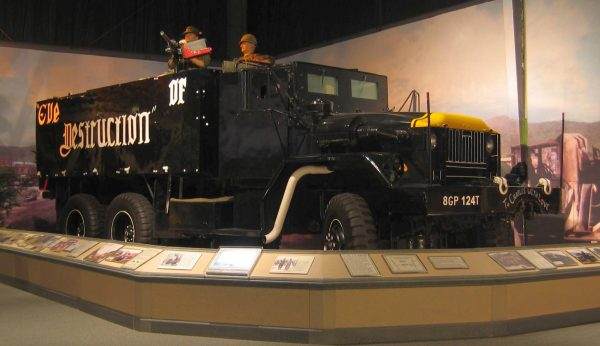 The only surviving gun truck, 'Eve of Destruction' based on an M54 truck.