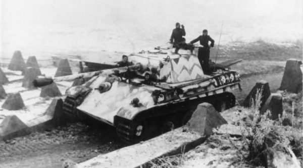 German Panther G in Winter Camouflage 1944