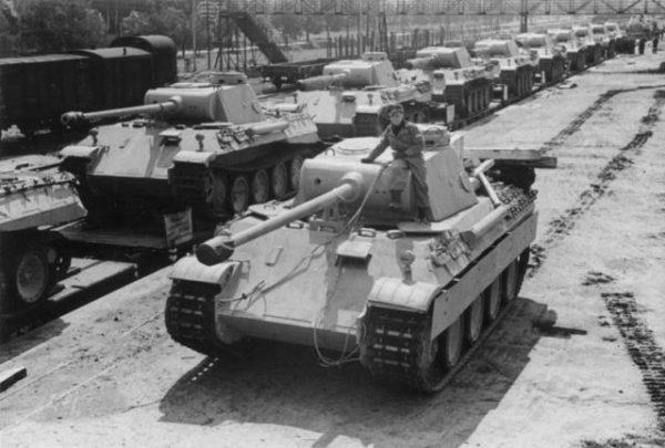 German Panzer V tank in 1943