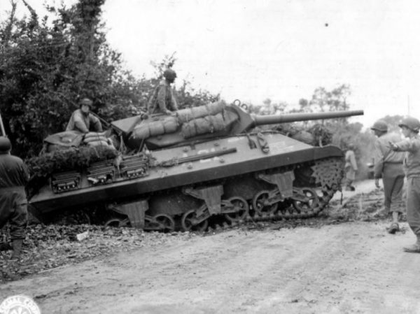 """M10 named """"Accident"""" of Company 'A', 703rd Tank Destroyer Battalion – Saint Jean de Daye 11 July 1944"""
