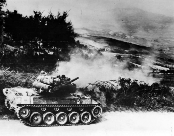 M18 Hellcat in action in Firenzuola Italy 1945
