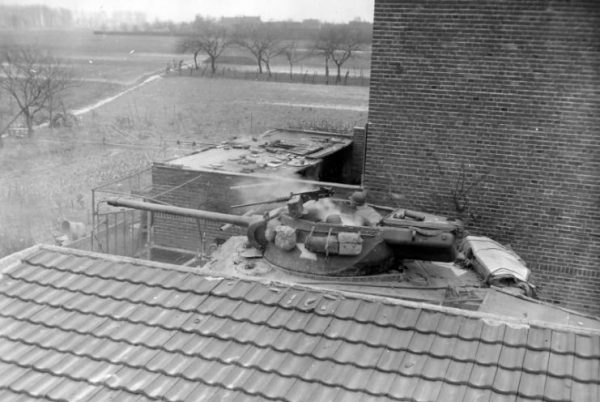 M36 35th Infantry Division 654th Tank Destroyer Battalion in Oberbrauch Germany 1945