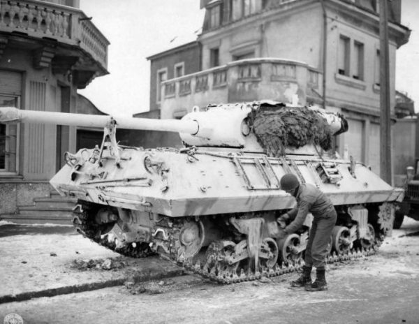 M36 Jackson of the Third Army, January 1945 Luxembourg