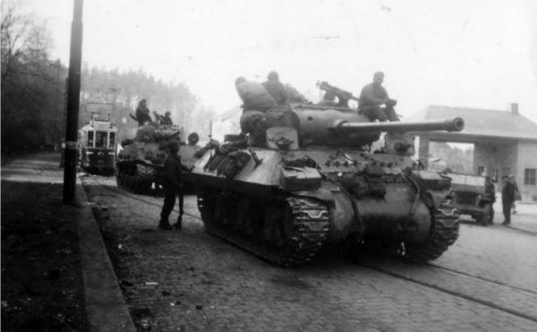 M36 of the 347th Infantry Regiment in Plauen, 1945