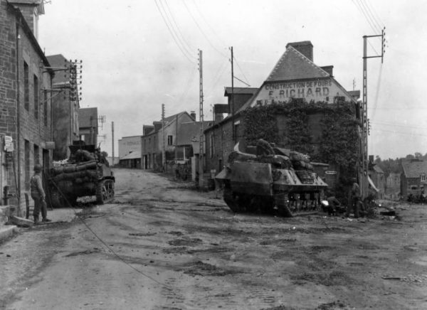 M5 And M10 of 2nd Armored Division In Tesey Sur Vire France 1944