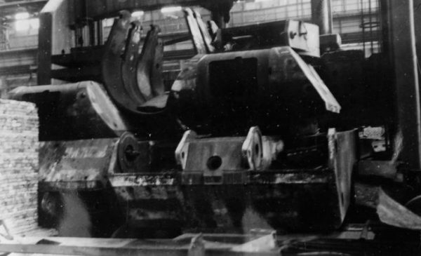 Maus turret at the Krupp factory in Essen, 1945