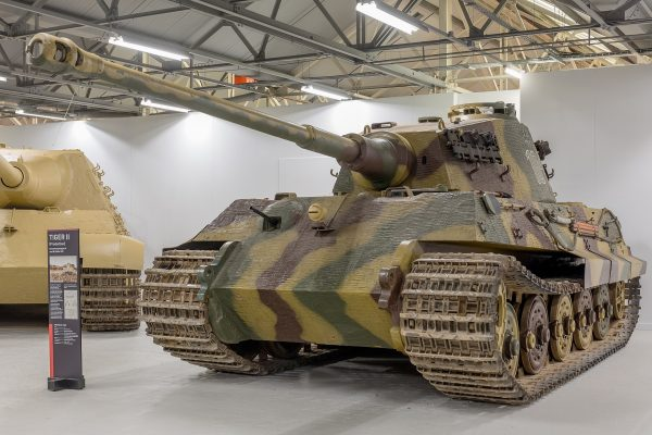 The mighty Tiger II. This one is number 104 from the 101st SS Panzer Division, and was abandoned in Normandy in August 1944 after its final drive failed. Image by Morio CC BY-SA 4.0