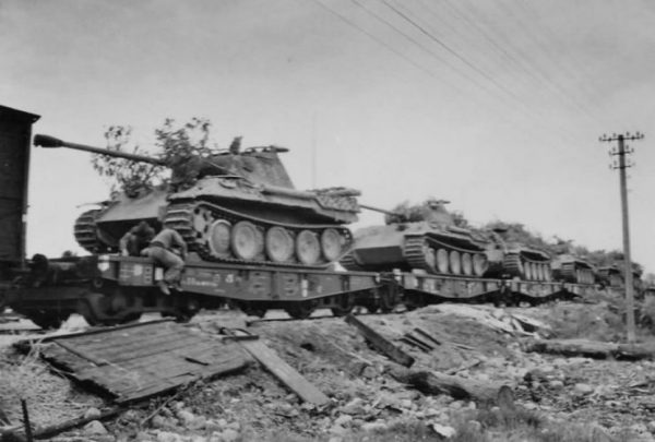 Ausf A of the 5th SS Panzer Division Wiking Bahntransport Summer 1944