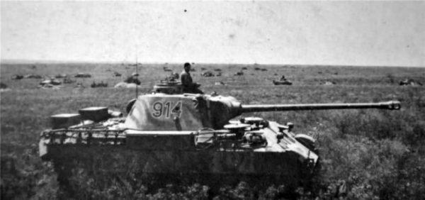 Panther Ausf D tank number 914 1943