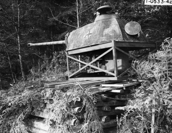 Panther turret as a pillbox