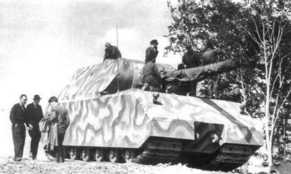 Panzer VIII Maus tank on a test run