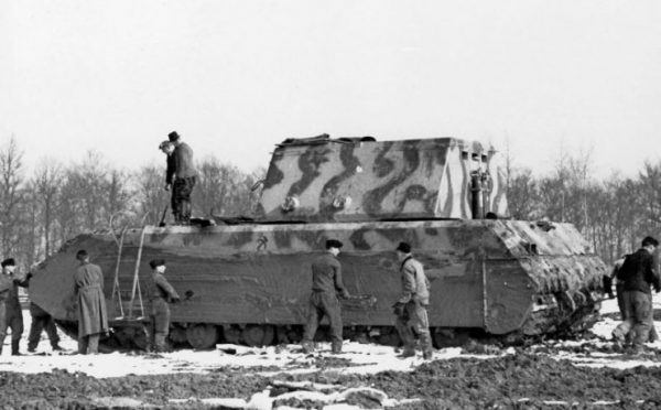 Panzerkampfwagen VIII Maus with simulated dummy turret,17 March 1944, Boblingen