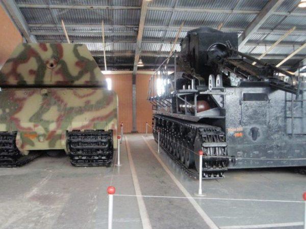 Rear view of the Panzerkampfwagen VIII Maus at Kubinka Museum.