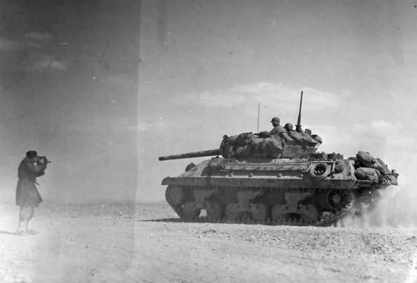 Tank Destroyer Heads To Battle Lines At Bir Marbott Pass East Of El Guettar In Tunisia 1943.