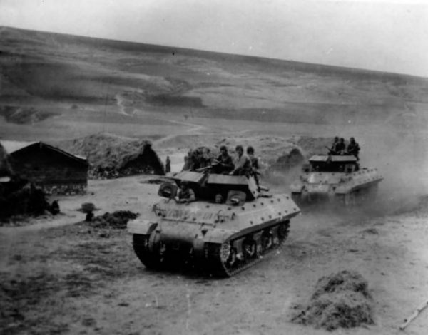 Tank Destroyers Head For Front In Tunisia 1943