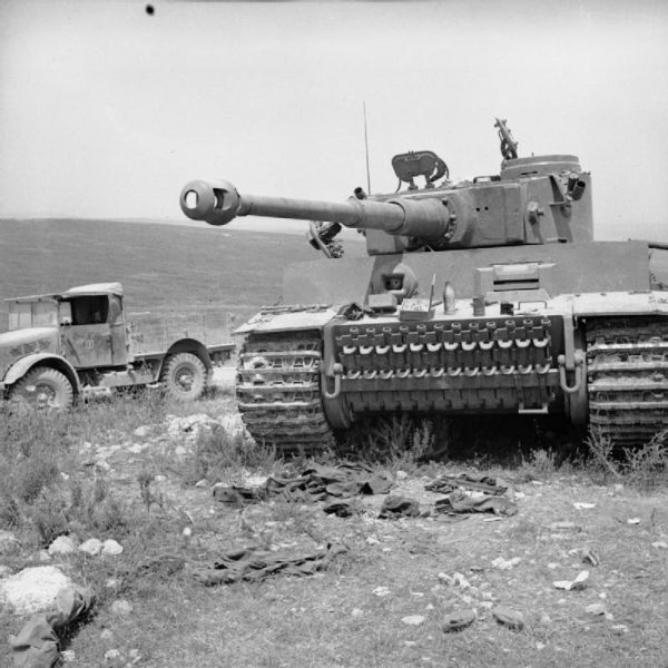 Tiger 131 after capture in Tunisia, 6 May 1943
