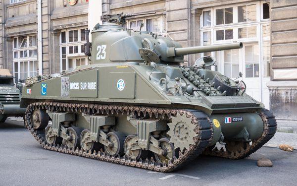 A sherman tank, similar to that used by Gorman. Yann Caradec CC BY-SA 2.0