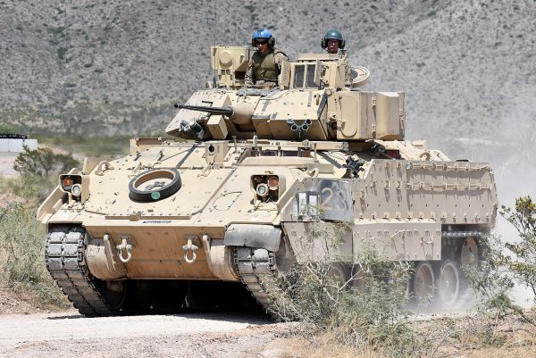 The M2A3 Bradley Infantry Fighting Vehicle.