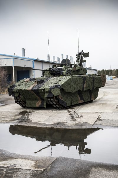 The AJAX prototype, the vehicle General Dynamics' MPF is based on.