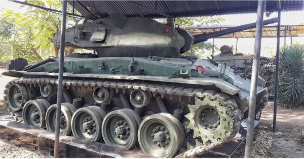 American WW2 Chaffee tank in India. By Mohit S CC BY 2.0 2
