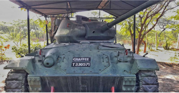 American WW2 M-24 Chaffee tank in India. By Mohit S CC BY 2.0