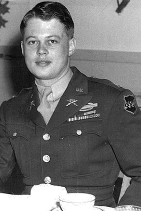 20 year old First Lt. Lyle J. Bouck, Jr., platoon leader of the 394th Infantry Division's Intelligence and Reconnaissance unit.