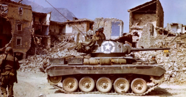 M24 Chaffee of the 1st Armored Division, 81st Recon Squadron in Gergato Italy 1945,
