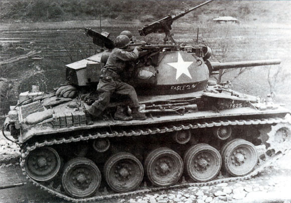 M24 Chaffee out in the field