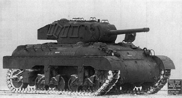 The T7 tank at Aberdeen proving grounds.