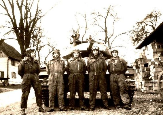 Tank crew of an M24 in Werl 1959