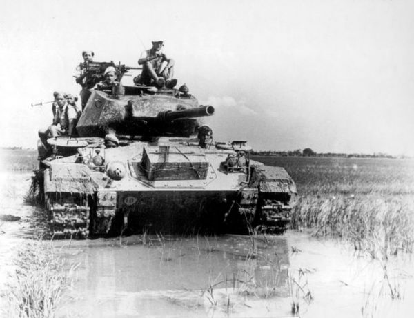 The French deployed several M24 Chaffee tanks during the Battle of Dien Bien Phu.