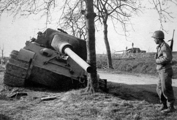 2 abandoned Jagdtigers can be seen in this image.