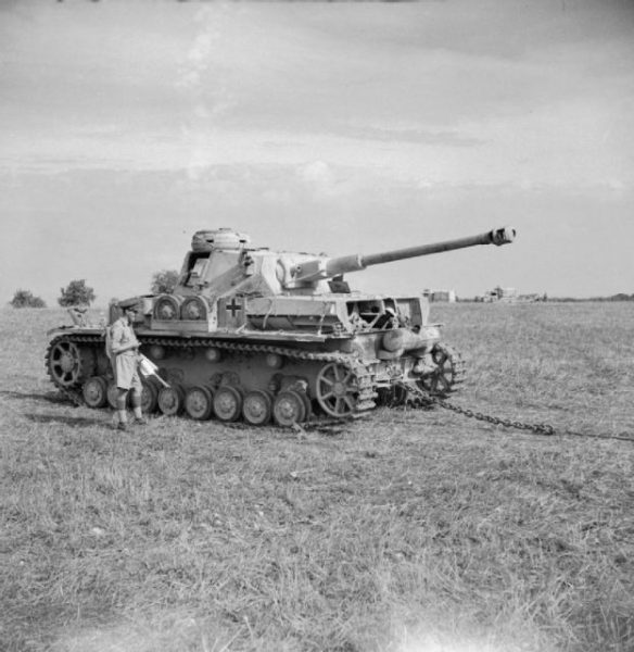 A captured German PzKpfw IV G used for anti-tank weapon tests by British Eighth Army, Italy 1943