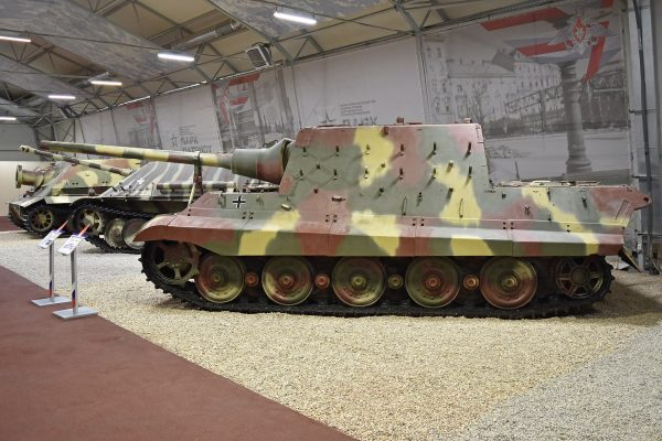 One of the three remaining Jagdtigers at the Kubinka tank museum. Image by Alan Wilson CC BY-SA 2.0.