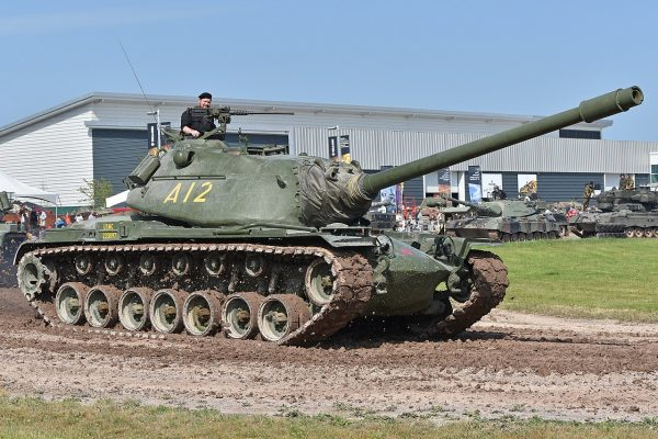 The huge M103 with its powerful 120 mm M58 gun, perhaps the most powerful tank gun in service during the Cold War. Image by Alan Wilson CC BY-SA 2.0